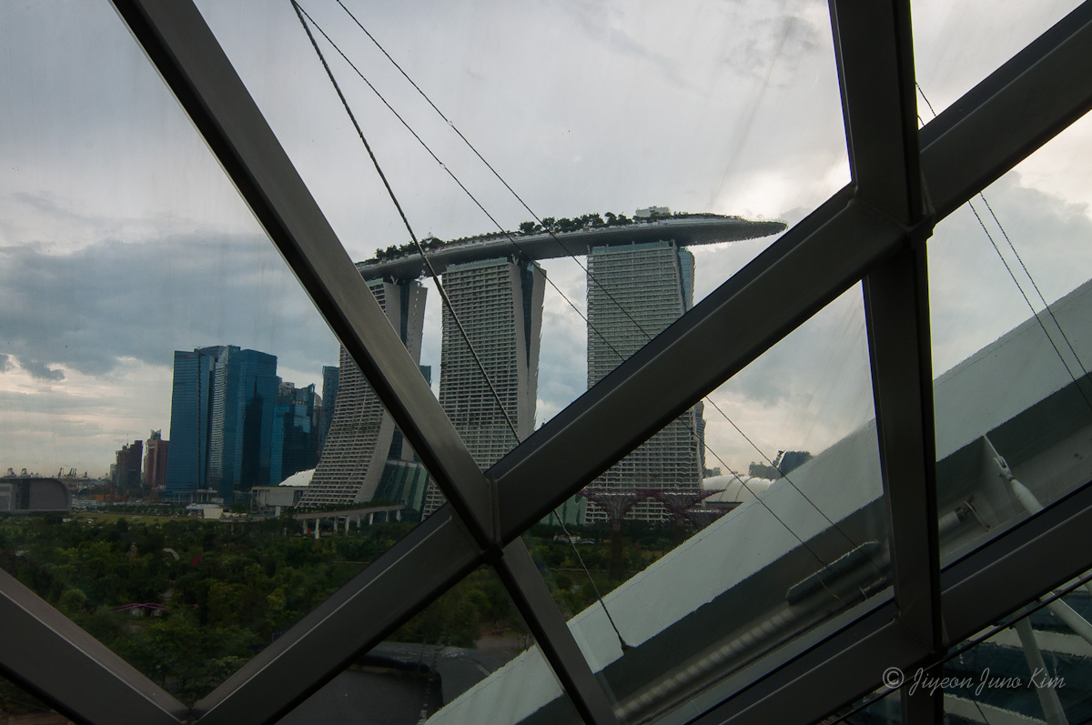 The view of Marina Bay Sands
