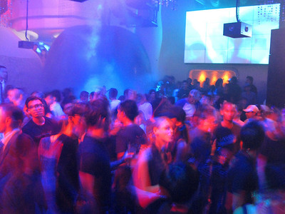 Singapore letting its hair down on a Friday night at club 'Zouk'.