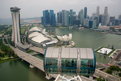 View from the Singapore Flyer