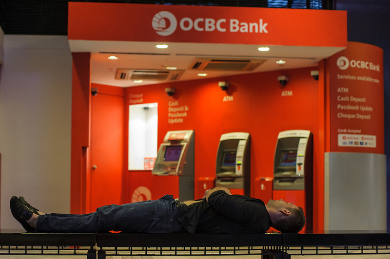 My only guess is more money from the ATM for drinking and never made it back to the bar!  Singapore at 6am