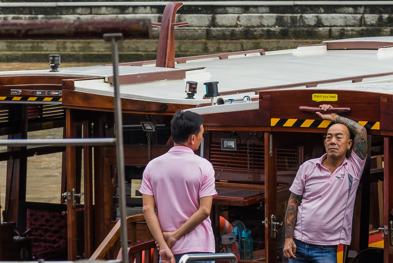 Uber cool boatman in Singapore