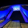 Marina Sands Hotel Close-up at Night