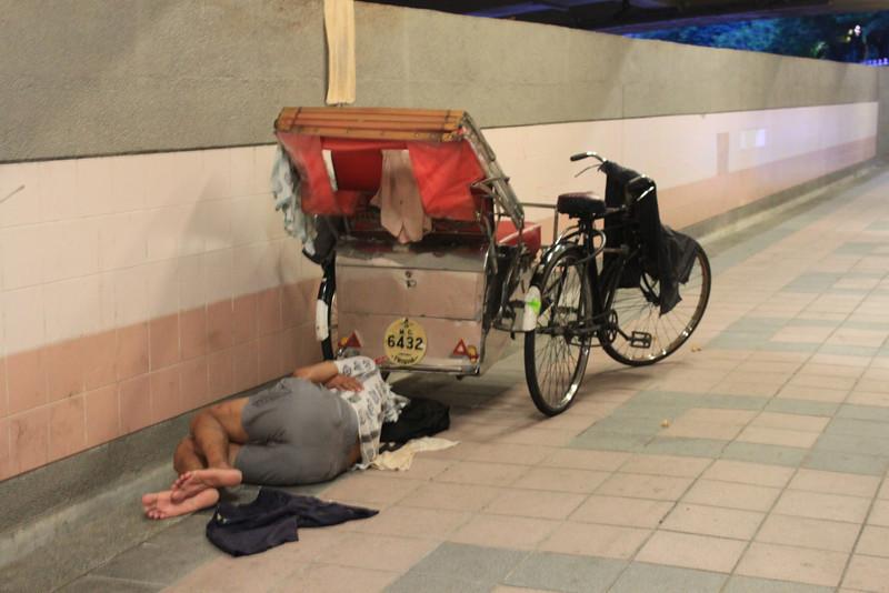 tired bike taxi
