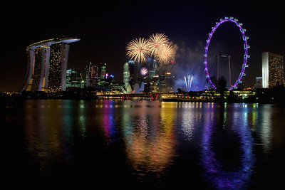 Fireworks over Singapore