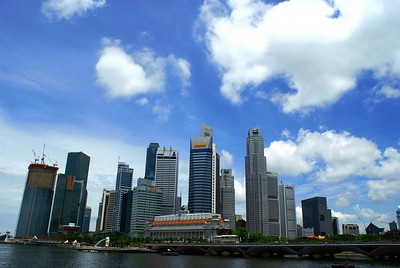 Singapore's Business District skyline.