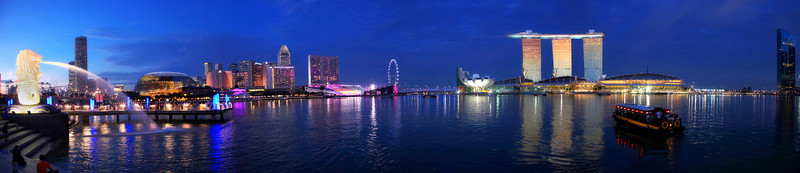 Merlion and Marina Bay, Singapore