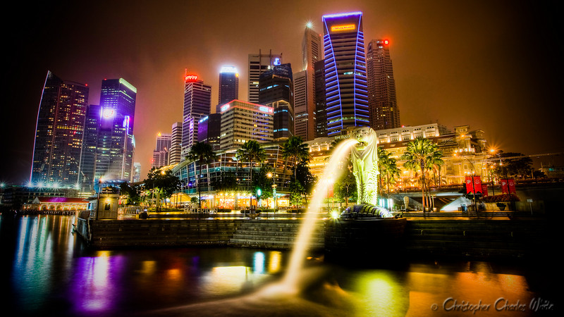 Singapore Skyline HDR (1 of 2)