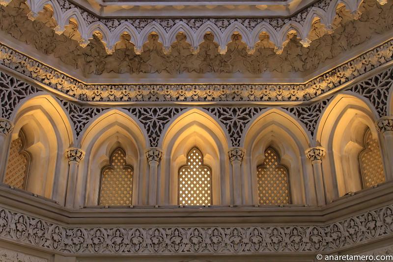Palacio de Monserrate, detalle de la cúpula octogonal