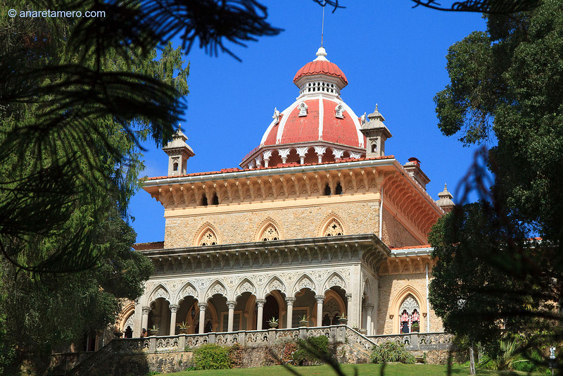 Palacio de Monserrate desde el jardín