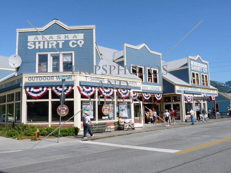 A view in the town of Skagway, Alaska.