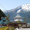 A view of the cruise ship port in Skagway, Alaska.