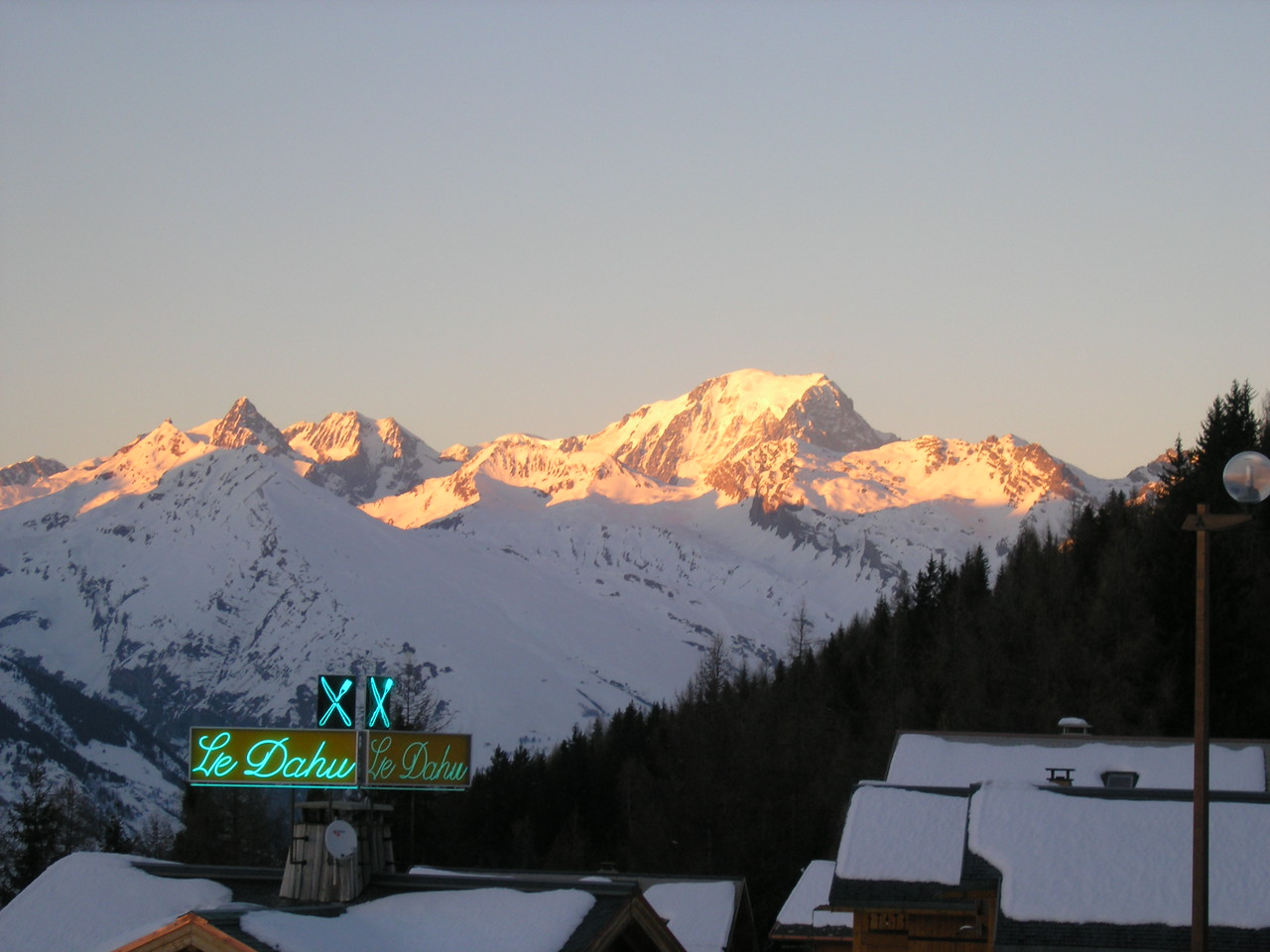 Mont Blanc from the balcony