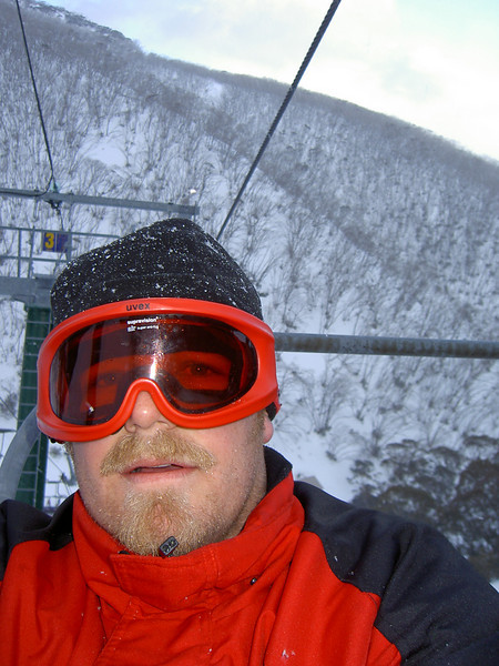 On the chair lift