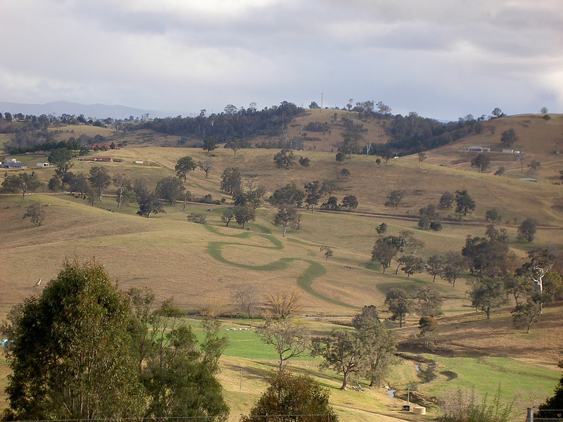 Bega, looks like something's been doing circlework on this hill.