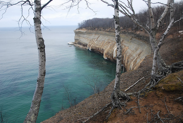 Skiing the Pictured Rocks