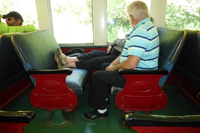 Joe and Joan enjoying the relaxing train ride.