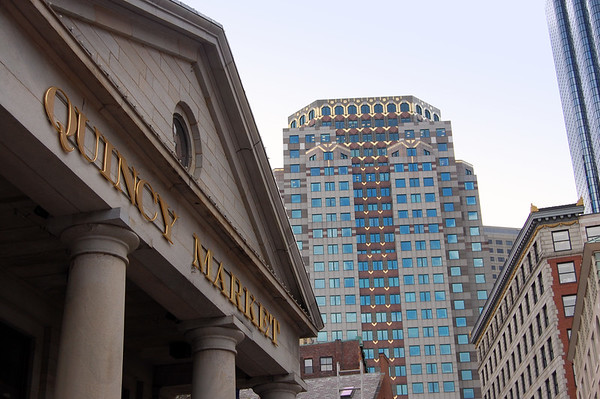 The Quincy Market shopping district in Boston, Massachusetts