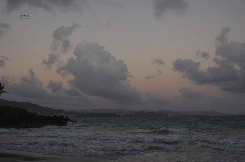 Although not dangerous, the evening of our visit to the memorial had rough surf, making the memorial even more somber.