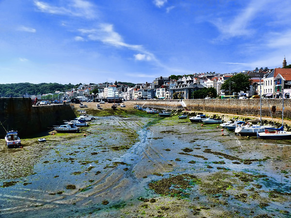 Low tide<br /> St. Peters Port, Guernsey Island, United Kingdom