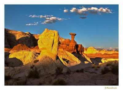 Golden Rock Sunset