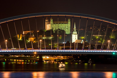 Bratislava in night, Slovakia, Europe