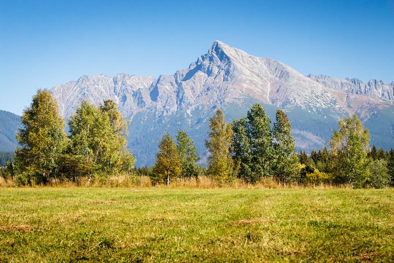 View on mountains of High Tatras and peak Krivan