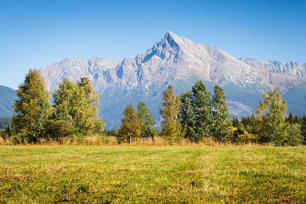 View on mountains of High Tatras and peak Krivan