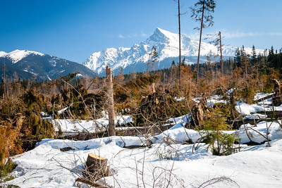 Peak Krivan in High Tatras, Slovakia