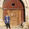 Me in central Prešov, Slovakia, in front of an ancient building that was being gutted inside, presumably for renovation.