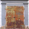 Rusty doors in ... I forgot what city ... in Slovakia. I am pretty sure it is Trnava.