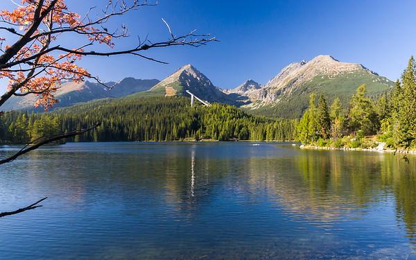 Lake Strbske pleso in High Tatras mountains, Slovakia, Europe