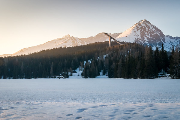 Strbske pleso in winter