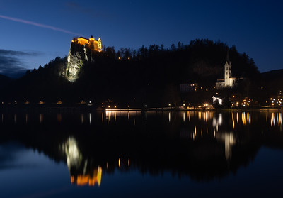 Lake Bled at night
