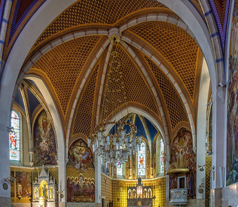 interior of St. Martin's Parish Church, Bled