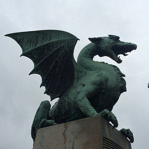 The dragons are supposed to be the symbols and protectors of Ljubljana.  According to the stories told by the tour guide, they didn't do so well at that second job.