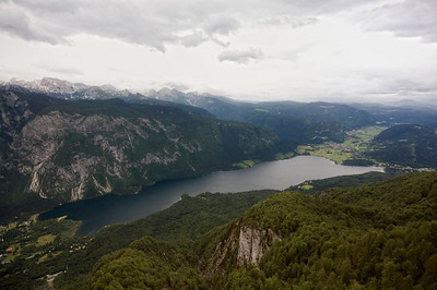 The view from Mt Vogel over Lake Bohinj. This was about 3/4 of the height from which I went hang-gliding.