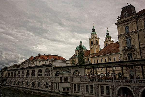 It was very grey when we first arrived in Ljubjana so I played around with the images a little to try and bring out something interesting - in this case the rather menacing sky.
