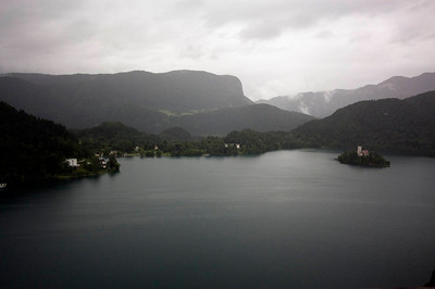 Lake Bled panorama taken from Bled castle.