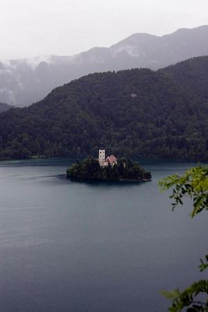 Lake Bled. Still very wet.
