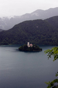 Lake Bled. Still very wet.