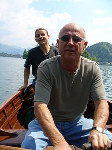 Go, Dad, paddle, paddle, paddle!