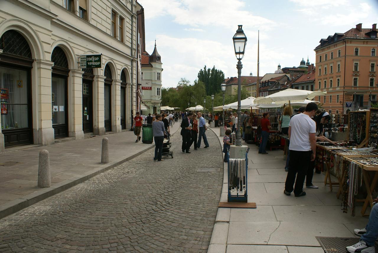 Market in Ljubljana.