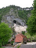 The Predjama Castle that is set into a cave and joined to the outside through an extensive cavern system.