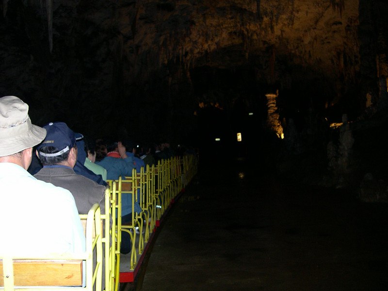 While Susan was working in Ljubljana, Dick took the train to see the Postojna caves, one of the largest cave systems in the world.  You start the visit by riding on a small electric train for about 1/2 mile into the cave.