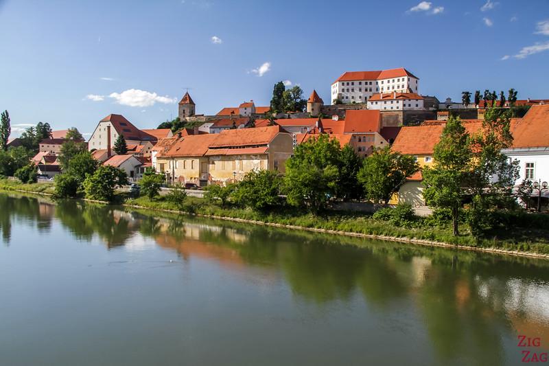 View from Pedestrian bridge over River Drava
