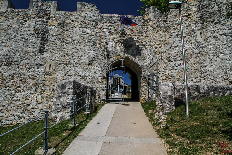 Celje Castle entrance