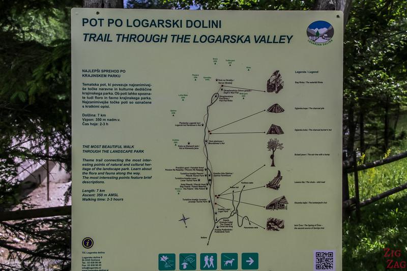 Natur-Ethnografischer Wanderweg Karte