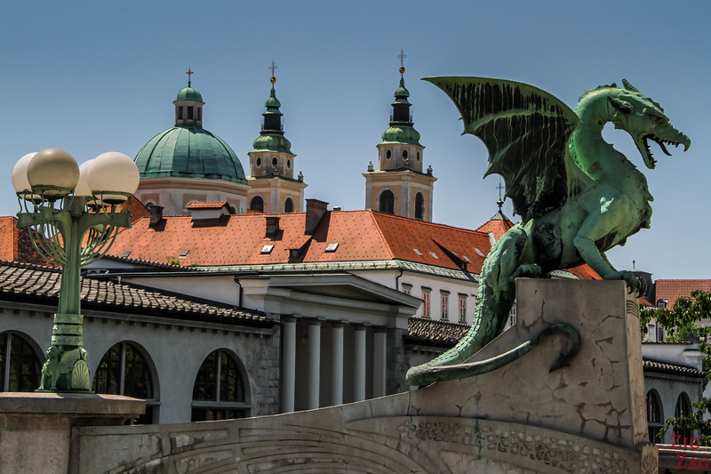 top things to do in Slovenia Ljubljana - dragon bridge