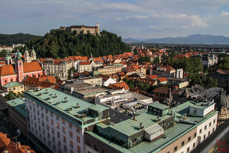city of Ljubljana view