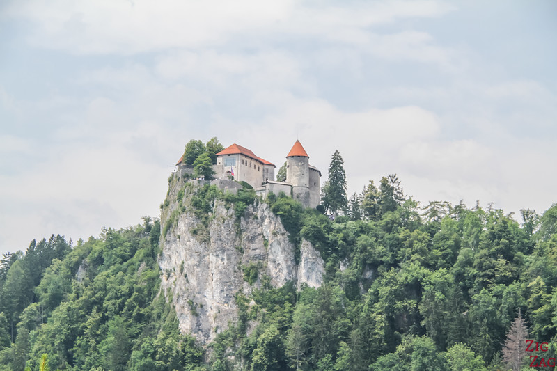 View of Lake Bled Castle Slovenia 2